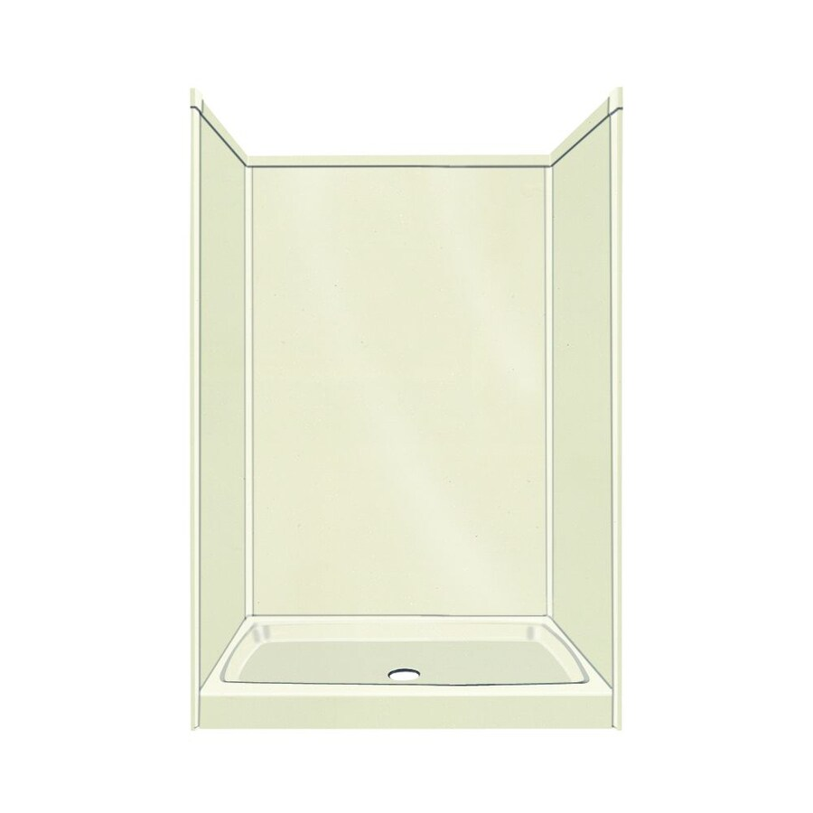Transolid Decor Decor Biscuit 5-Piece Alcove Shower Kit (Common: 32-in x 48-in; Actual: 72-in x 32-in x 48-in)