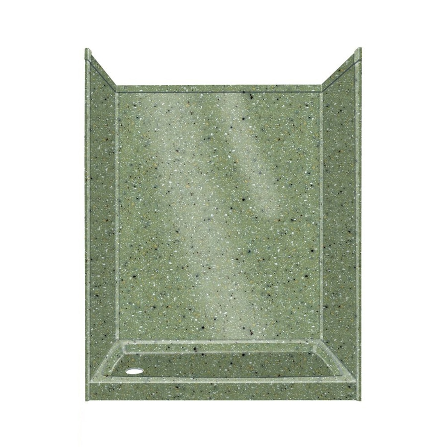 Transolid Decor Peppered Sage Shower Wall Surround Side And Back Wall Kit (Common: 32-in x 60-in; Actual: 72-in x 32-in x 60-in)