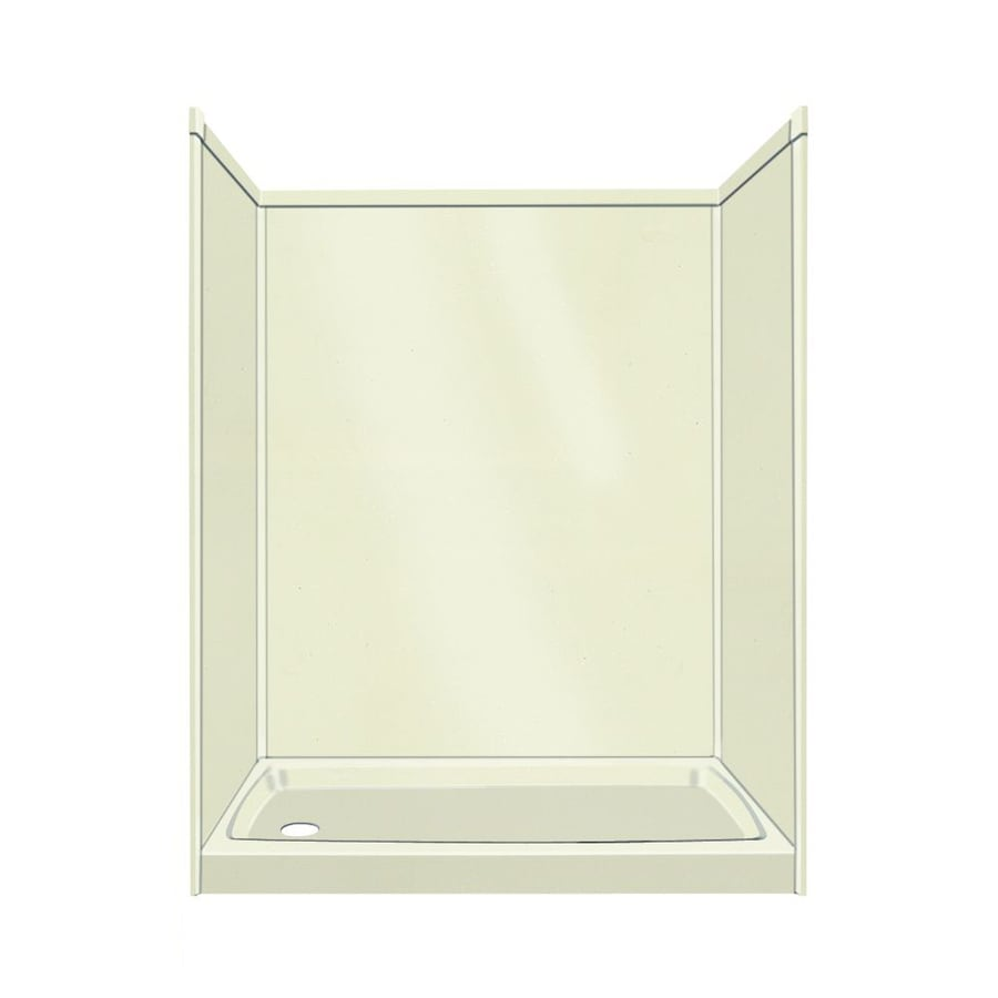 Transolid Decor Biscuit/Buff Compostie Wall and Floor 5-Piece Alcove Shower Kit (Common: 32-in x 60-in; Actual: 72-in x 32-in x 60-in)