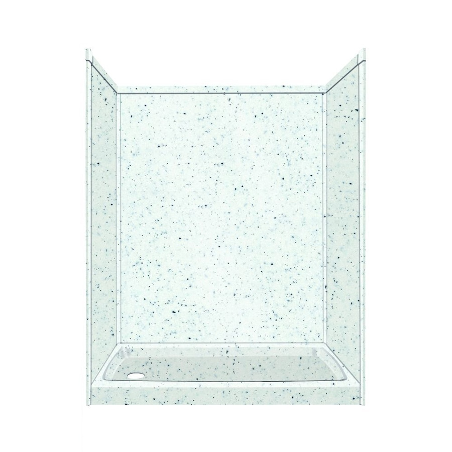 Transolid Decor Decor Matrix White/Speckled White Compostie Wall and Floor 5-Piece Alcove Shower Kit (Common: 32-in x 60-in; Actual: 72-in x 32-in x 60-in)