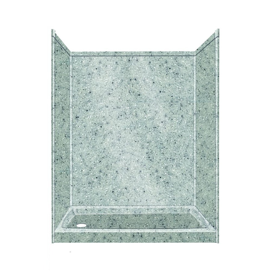 Transolid Decor Matrix Dusk/Stone Compostie Wall and Floor 5-Piece Alcove Shower Kit (Common: 32-in x 60-in; Actual: 72-in x 32-in x 60-in)