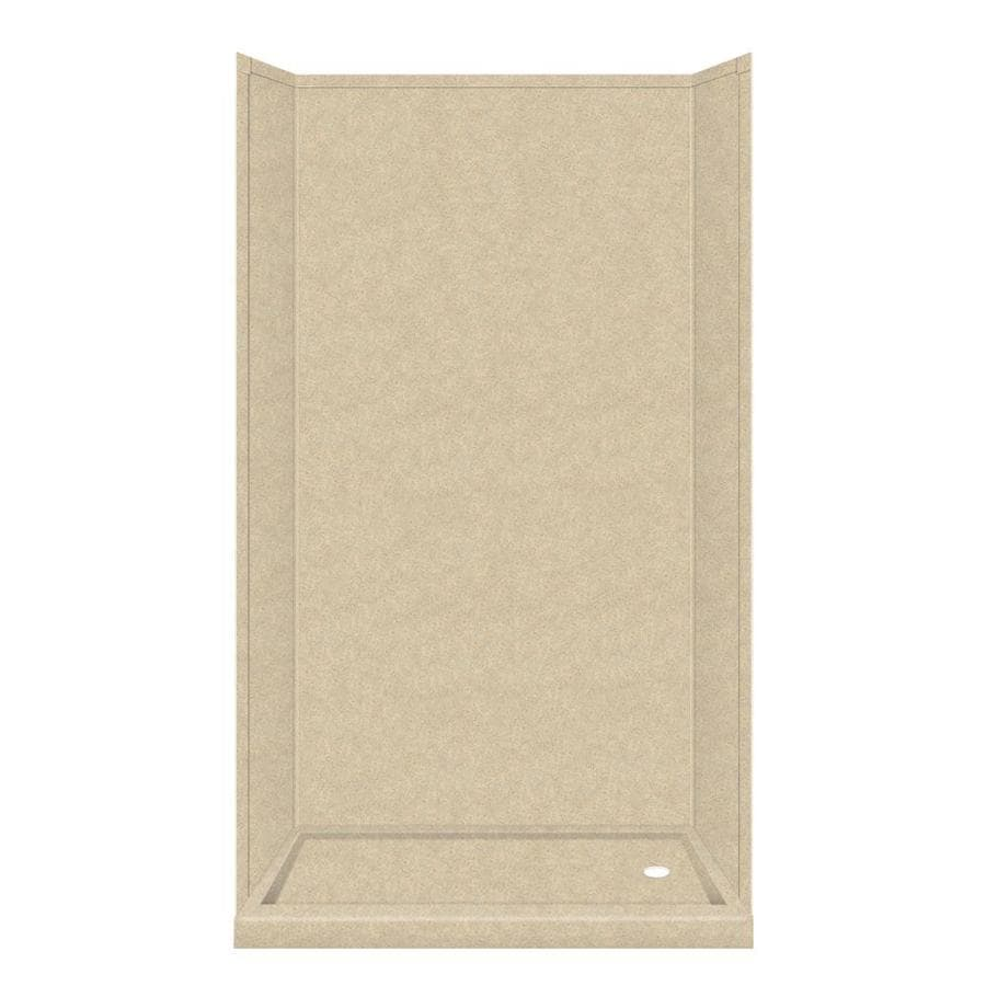 Transolid Decor Matrix Khaki 5-Piece Alcove Shower Kit (Common: 32-in x 60-in; Actual: 72-in x 32-in x 60-in)