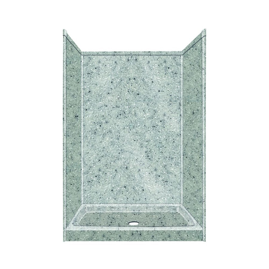 Transolid Decor Decor Matrix Dusk/Stone Compostie Wall and Floor 5-Piece Alcove Shower Kit (Common: 34-in x 48-in; Actual: 72-in x 34-in x 48-in)