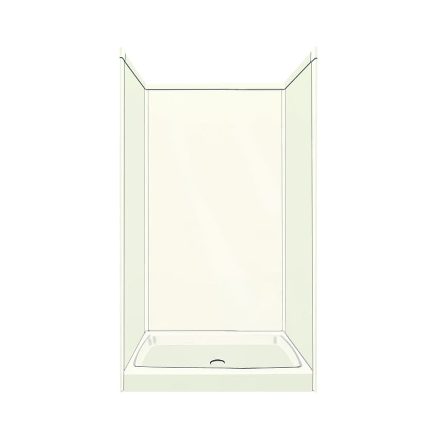 Transolid Decor Decor Cameo/Cream Compostie Wall and Floor 5-Piece Alcove Shower Kit (Common: 36-in x 36-in; Actual: 72-in x 36-in x 36-in)
