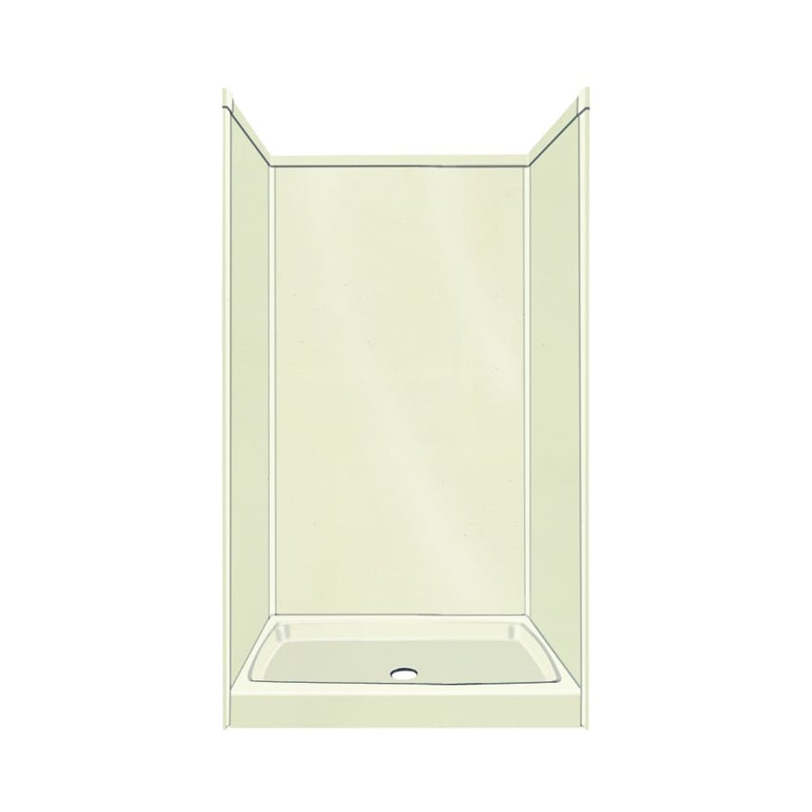 Transolid Decor Decor Biscuit 5-Piece Alcove Shower Kit (Common: 36-in x 36-in; Actual: 72-in x 36-in x 36-in)