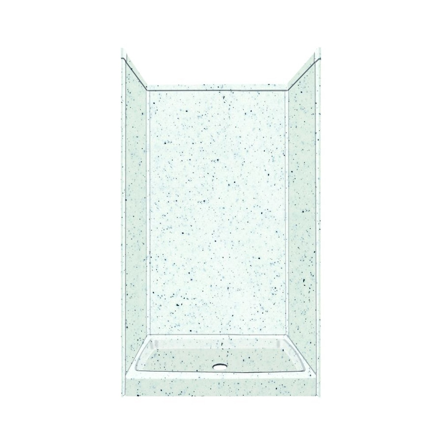Transolid Decor Matrix White Shower Wall Surround Side And Back Wall Kit (Common: 36-in x 36-in; Actual: 72-in x 36-in x 36-in)
