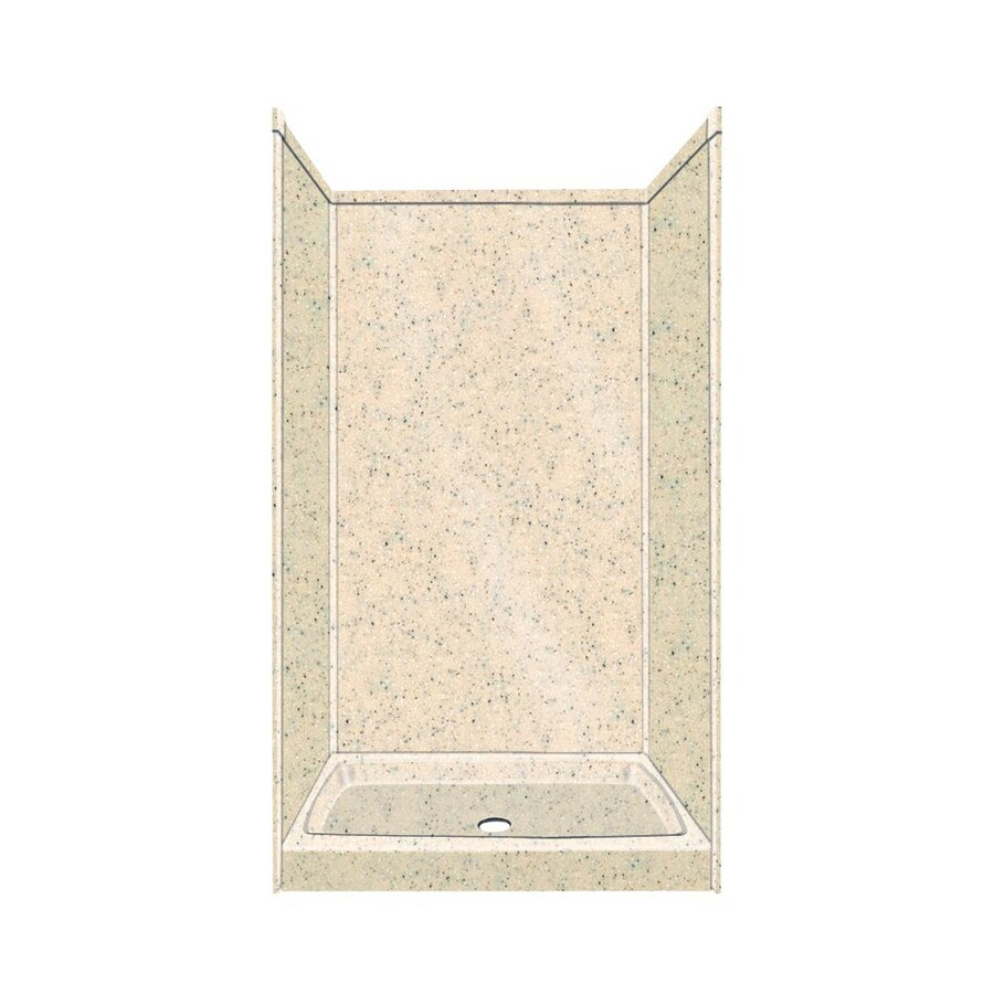Transolid Decor Decor Matrix Khaki/Sunset Sand Compostie Wall and Floor 5-Piece Alcove Shower Kit (Common: 36-in x 36-in; Actual: 96-in x 36-in x 36-in)