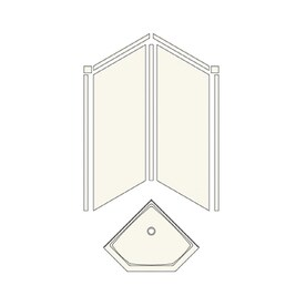 Transolid Decor Matrix Sand Wall Fiberglass/Plastic Composite Floor Neo  Angle 3 Piece
