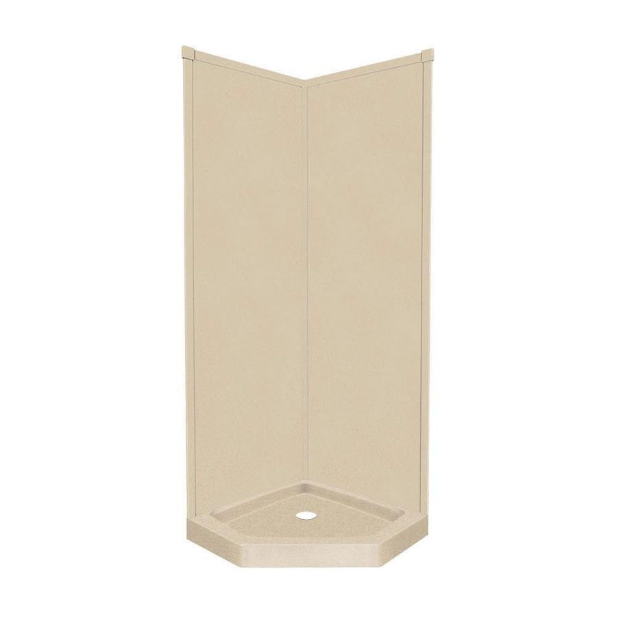 Transolid Decor Matrix Khaki Corner Shower Kit (Actual: 96-in x 36-in x 36-in)