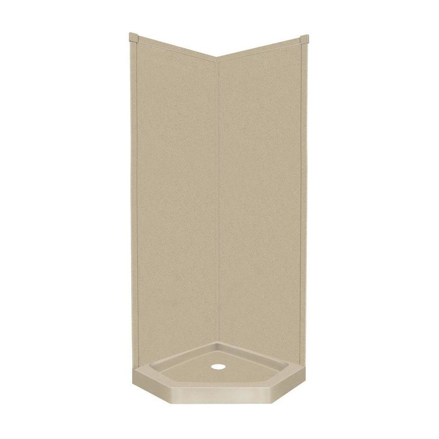 Transolid Decor Matrix Sand Corner Shower Kit (Actual: 96-in x 38-in x 38-in)