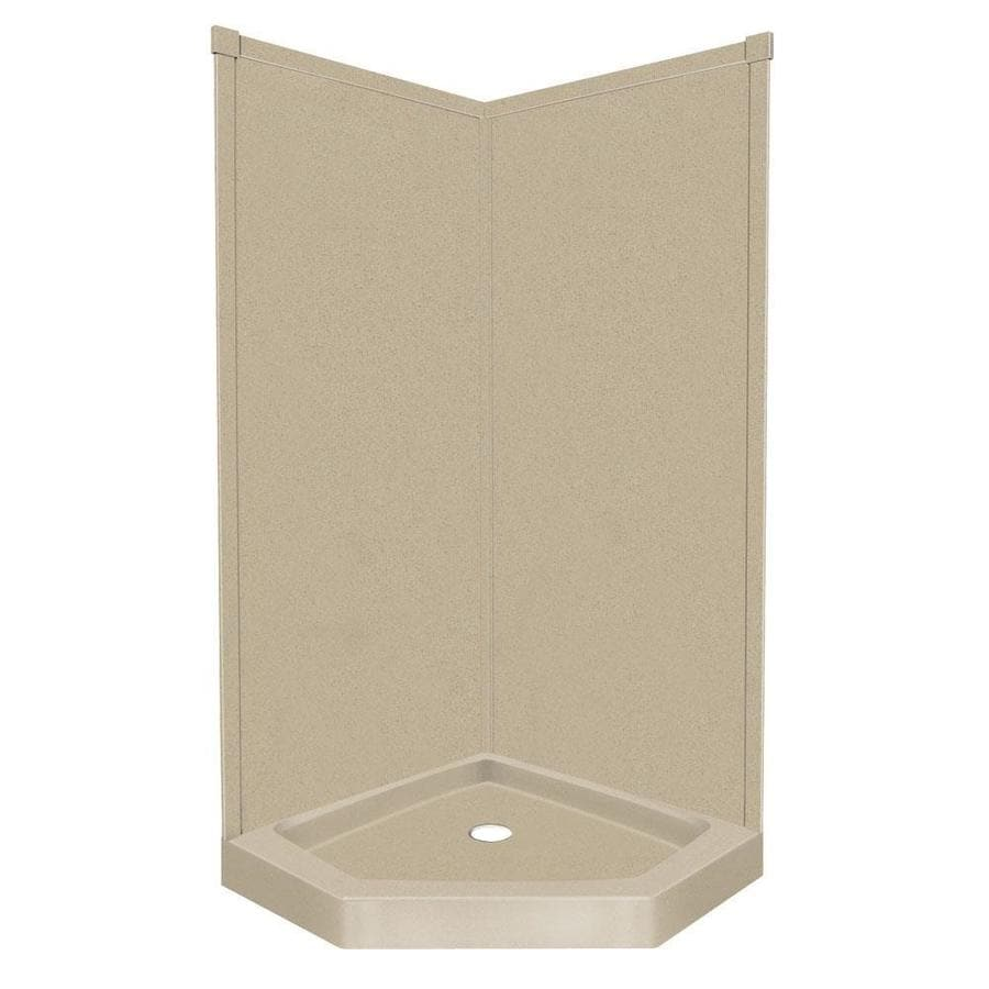 Transolid Decor Matrix Khaki Corner Shower Kit (Actual: 72-in x 36-in x 42-in)