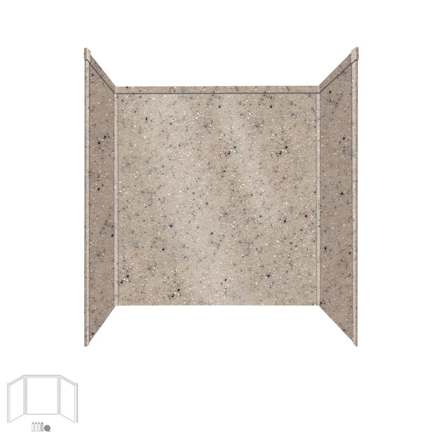 Transolid Decor Desert Earth Shower Wall Surround Side and Back Panels (Common: 32-in x 60-in; Actual: 60-in x 32-in x 60-in)