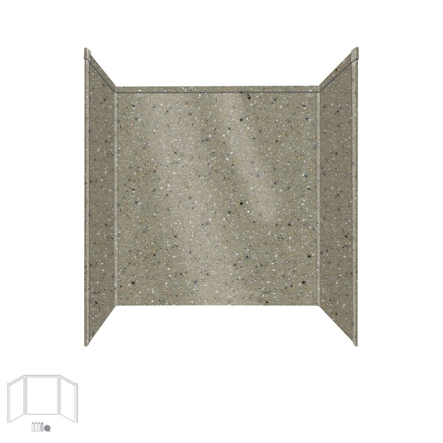 Transolid Decor Peppered Sage Shower Wall Surround Side and Back Panels (Common: 32-in x 60-in; Actual: 60-in x 32-in x 60-in)