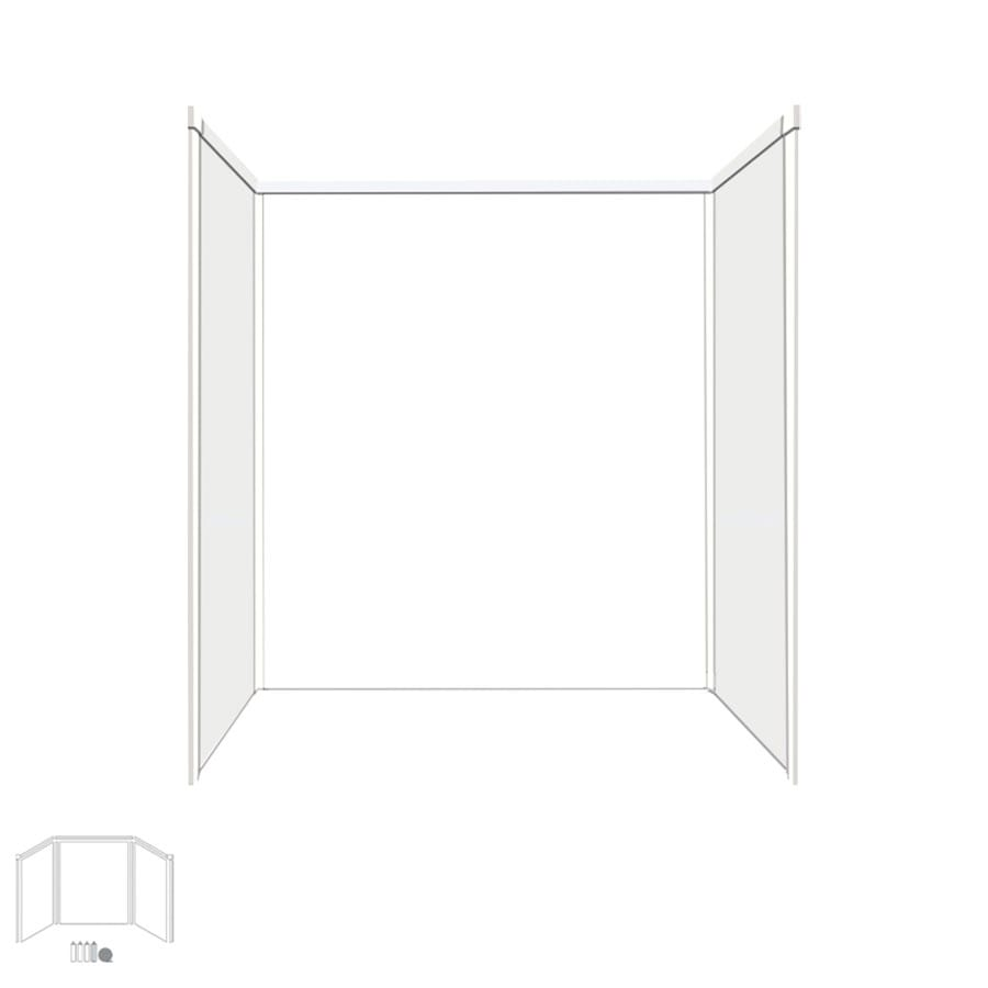 Transolid Decor White/Snow Shower Wall Surround Side and Back Panels (Common: 32-in x 60-in; Actual: 60-in x 32-in x 60-in)