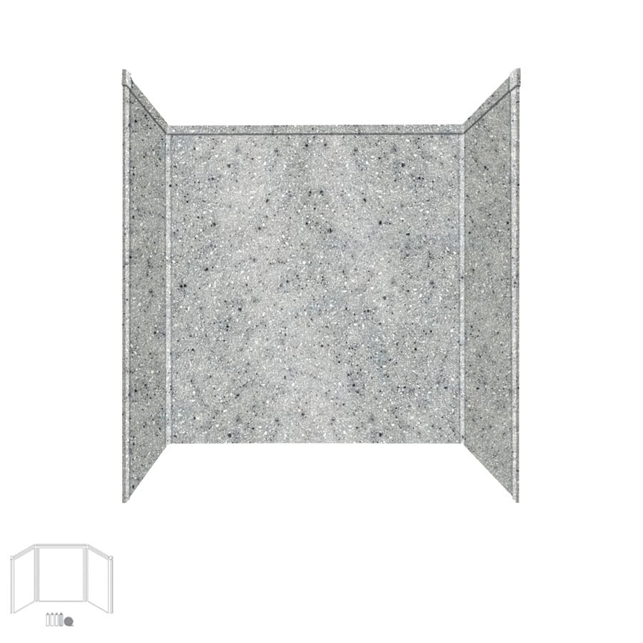 Transolid Decor Matrix Dusk/Stone Shower Wall Surround Side and Back Panels (Common: 32-in x 60-in; Actual: 60-in x 32-in x 60-in)