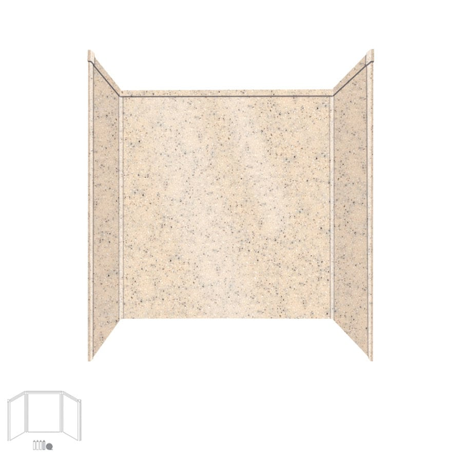 Transolid Decor Matrix Khaki/Sunset Sand Shower Wall Surround Side and Back Panels (Common: 32-in x 60-in; Actual: 60-in x 32-in x 60-in)