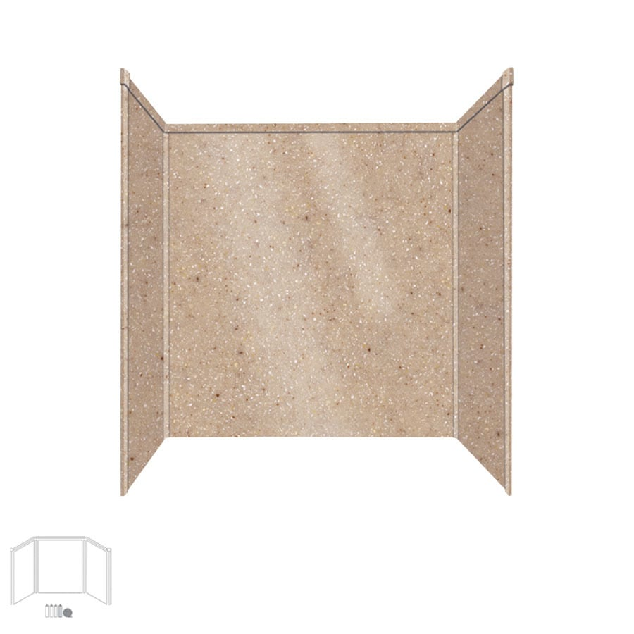 Transolid Decor Sand Castle Shower Wall Surround Side and Back Panels (Common: 32-in x 60-in; Actual: 60-in x 32-in x 60-in)