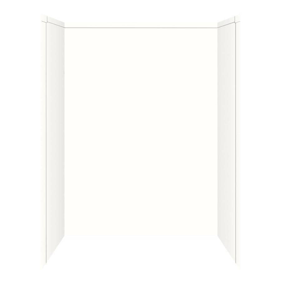 Transolid Decor White/Snow Shower Wall Surround Side and Back Panels (Common: 32-in x 60-in; Actual: 72-in x 32-in x 60-in)