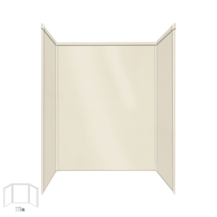 Transolid Decor Biscuit Shower Wall Surround Corner Wall Kit (Common: 32-in x 60-in; Actual: 72-in x 32-in x 60-in)