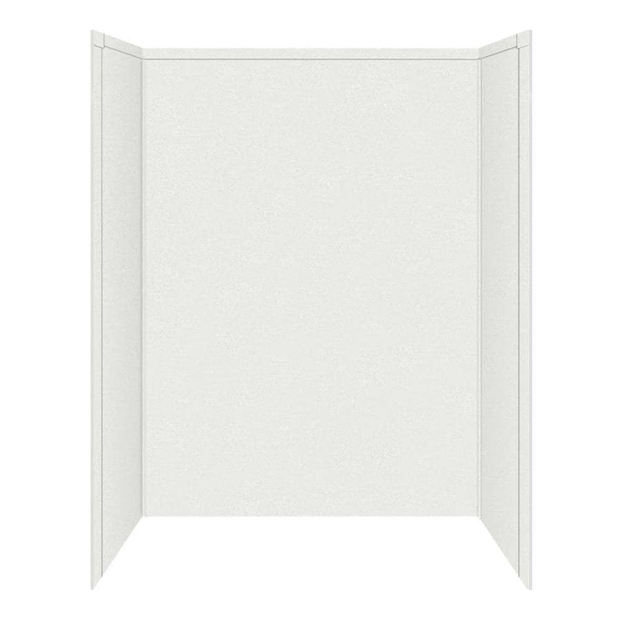 Transolid Decor Matrix White Shower Wall Surround Side And Back Wall Kit (Common: 32-in x 60-in; Actual: 72-in x 32-in x 60-in)