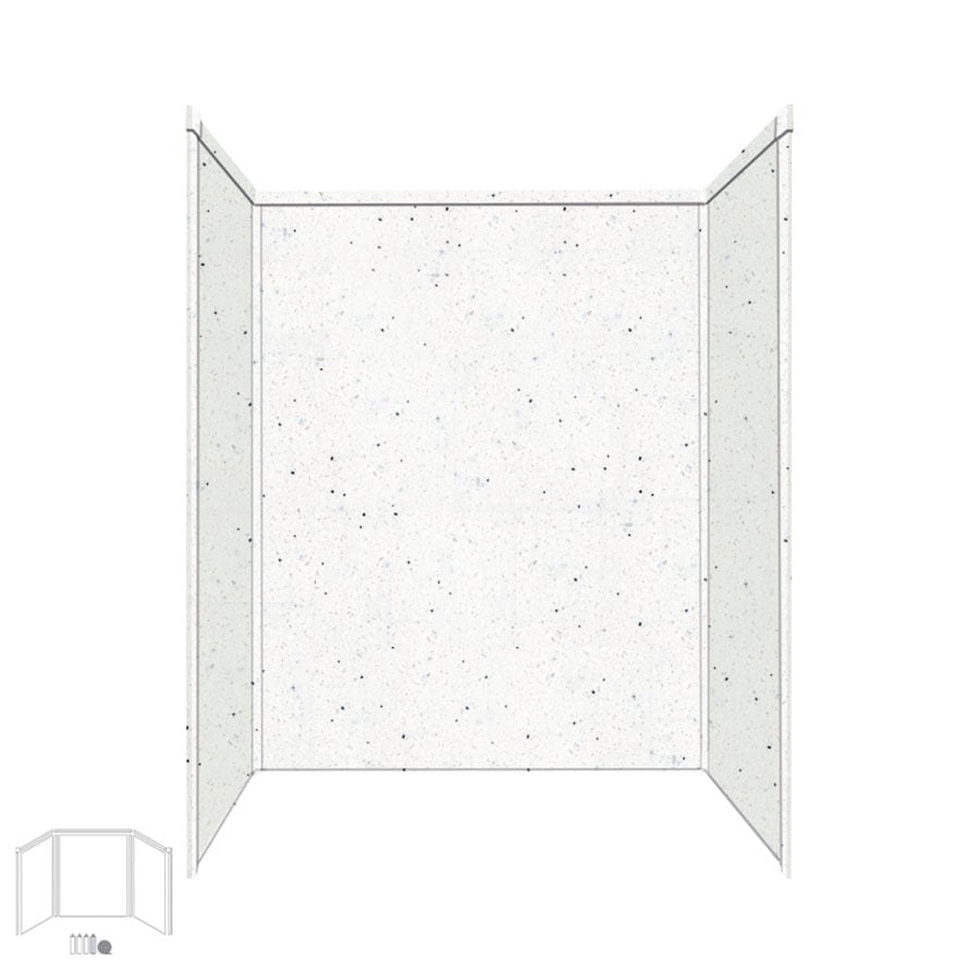 Transolid Decor Matrix Summit/Alabaster Shower Wall Surround Side and Back Panels (Common: 32-in x 60-in; Actual: 72-in x 32-in x 60-in)