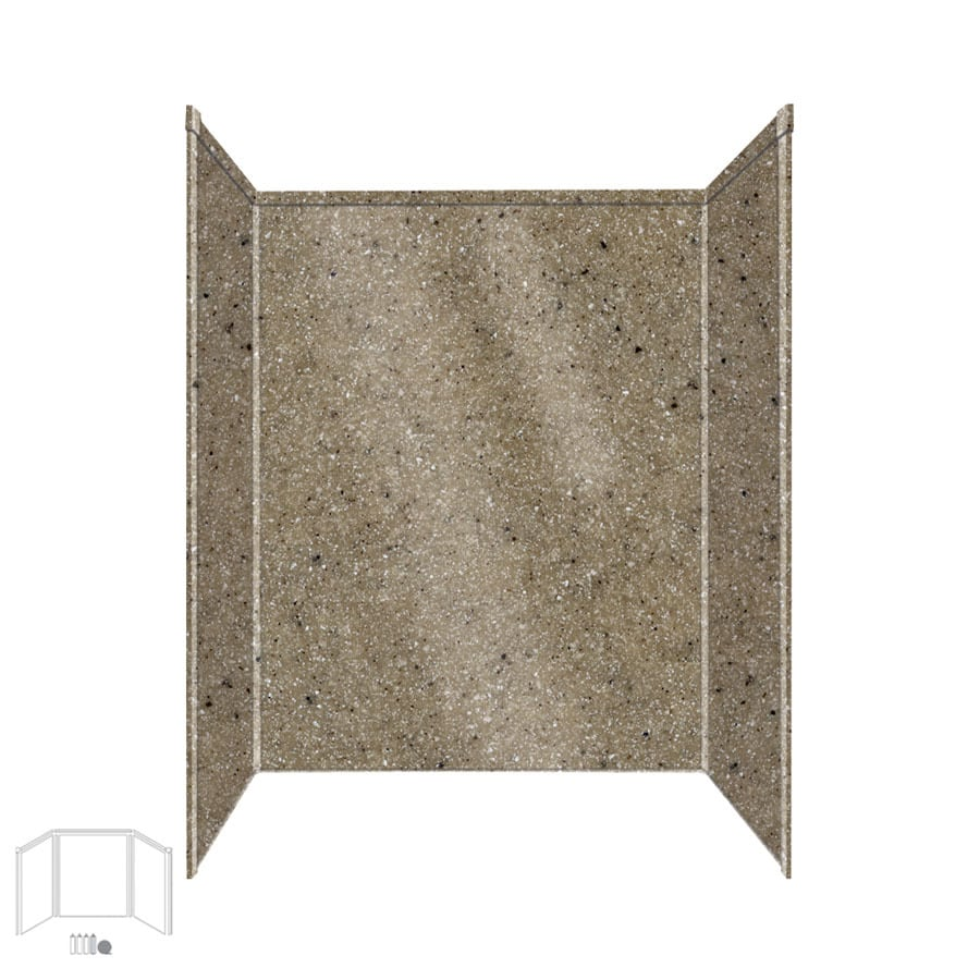 Transolid Decor Matrix Sand Shower Wall Surround Side and Back Panels (Common: 32-in x 60-in; Actual: 72-in x 32-in x 60-in)