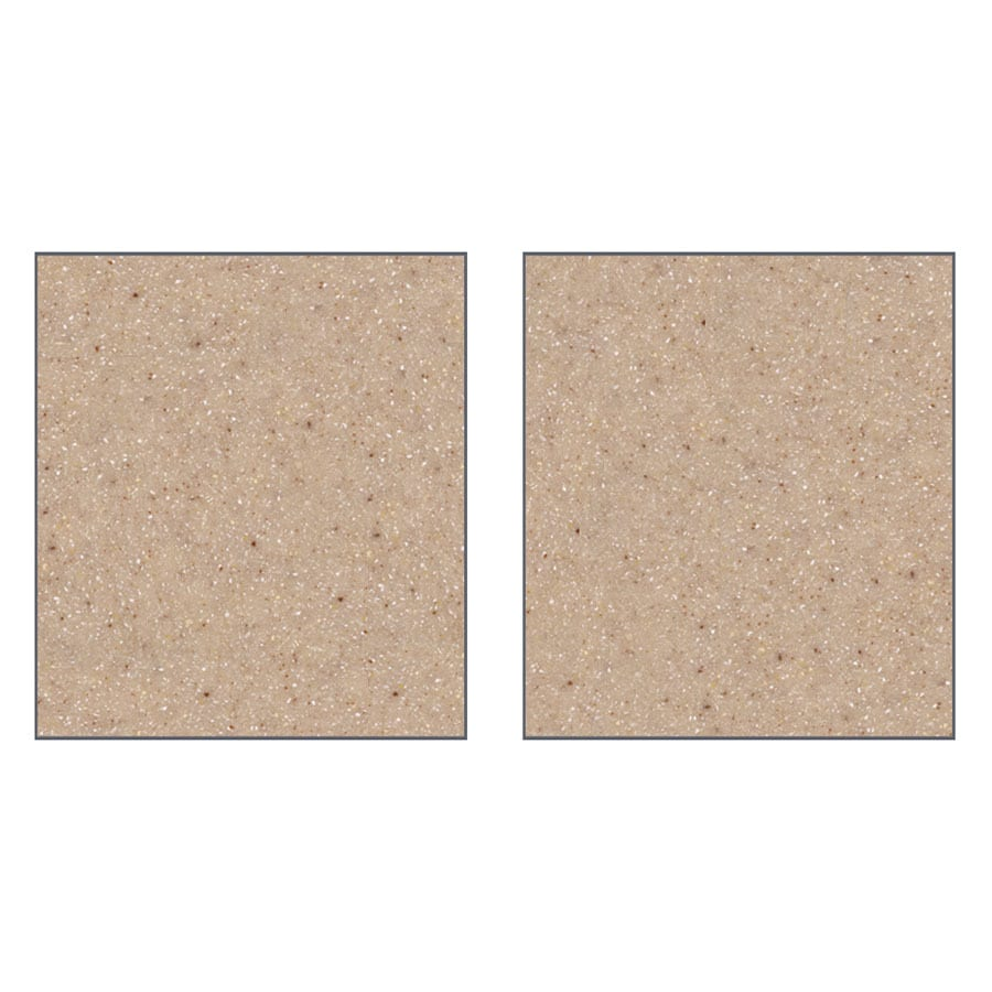 Transolid Decor Sand Castle Shower Wall Surround Side Wall Panel Kit (Common: 0.25-in x 32-in; Actual: 72-in x 0.25-in x 32-in)