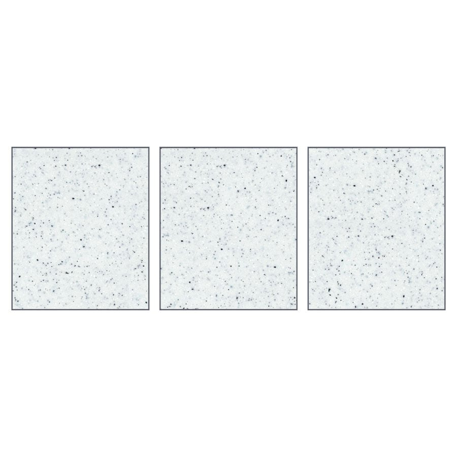 Transolid Decor Matrix White/Speckled White Shower Wall Surround Side Panel (Common: 0.25-in x 36-in; Actual: 72-in x 0.25-in x 36-in)
