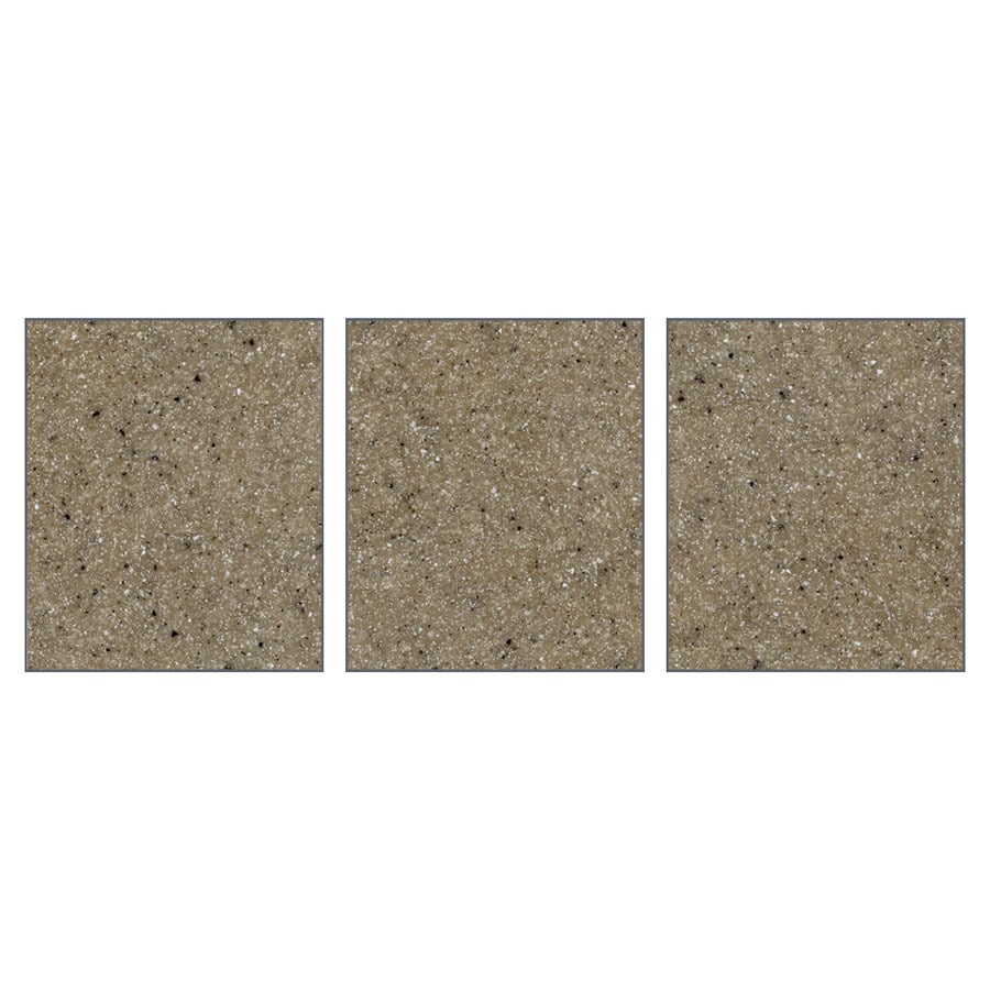Transolid Decor Matrix Sand Shower Wall Surround Side Panel (Common: 0.25-in x 36-in; Actual: 72-in x 0.25-in x 36-in)