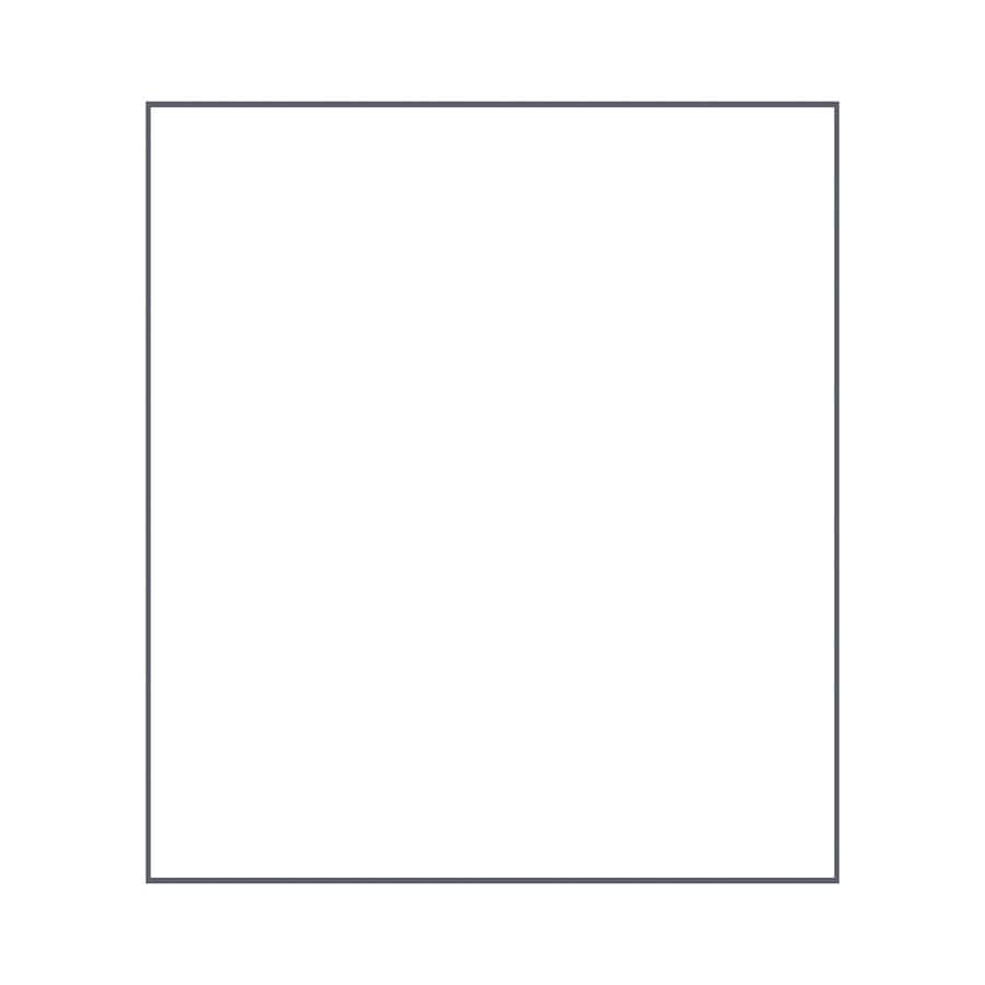 Transolid Decor White/Snow Shower Wall Surround Side Panel (Common: 0.25-in x 36-in; Actual: 96-in x 0.25-in x 36-in)