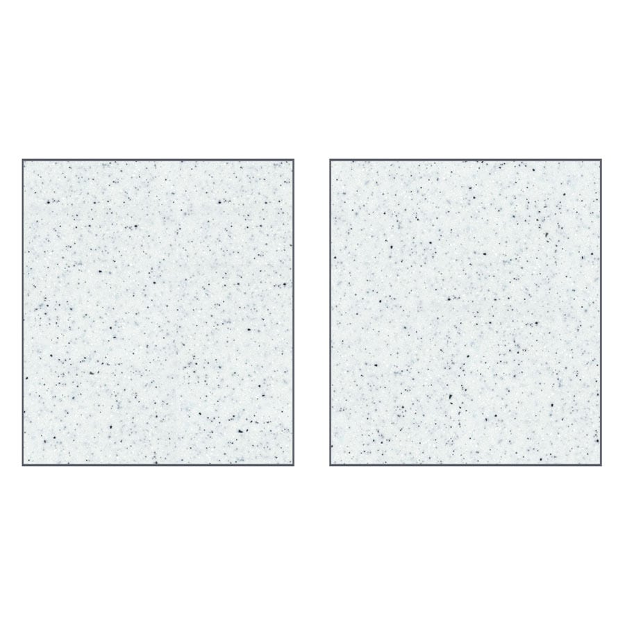 Transolid Decor Matrix White Shower Wall Surround Side Wall Panel Kit (Common: 0.25-in x 38-in; Actual: 96-in x 0.25-in x 38-in)
