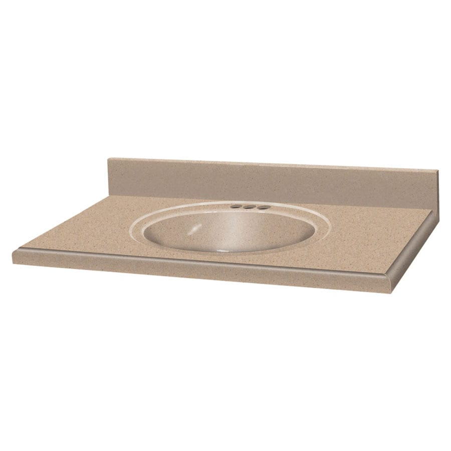 Solid Surface Bathroom Sink: Transolid Decor Sand Castle Solid Surface Integral Single