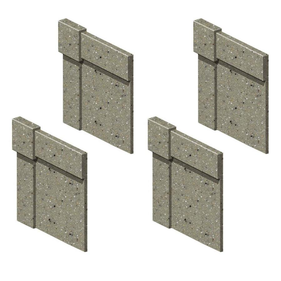 Transolid Decor Peppered Sage Shower Wall Decorative Corner Trim Blocks