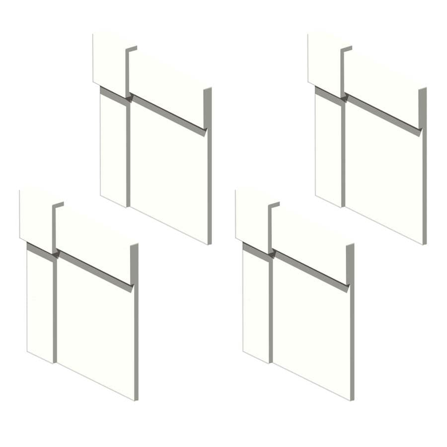 Transolid Decor White Shower Wall Decorative Corner Trim Blocks