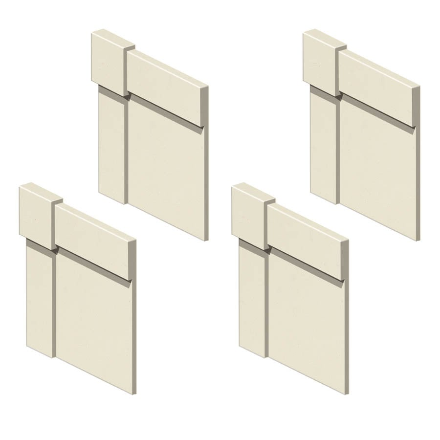 Transolid Decor Biscuit Shower Wall Decorative Corner Trim Blocks