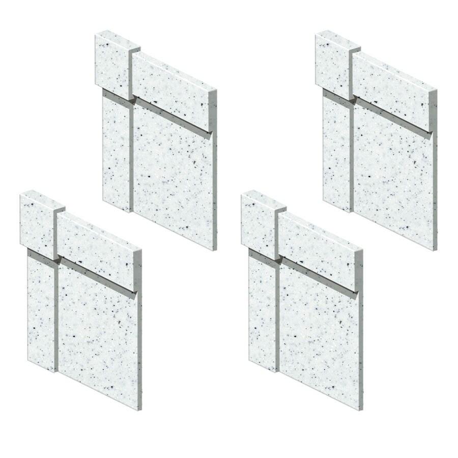 Transolid Decor Matrix White Shower Wall Decorative Corner Trim Blocks