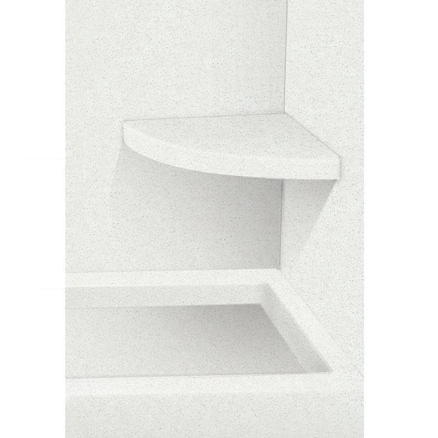 Transolid Decor Matrix White Solid Surface Wall Mount Shower Seat