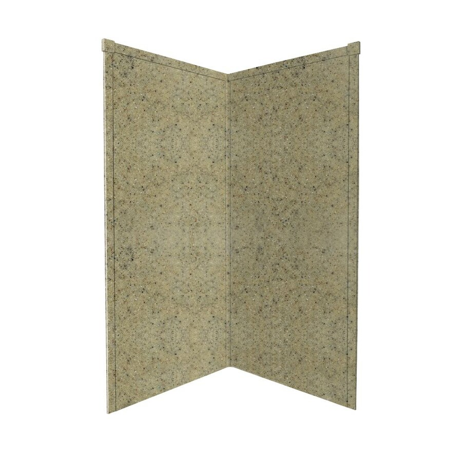 Transolid Decor Desert Earth Shower Wall Surround Corner Wall Panel (Common: 36-in x 36-in; Actual: 72-in x 36-in x 36-in)