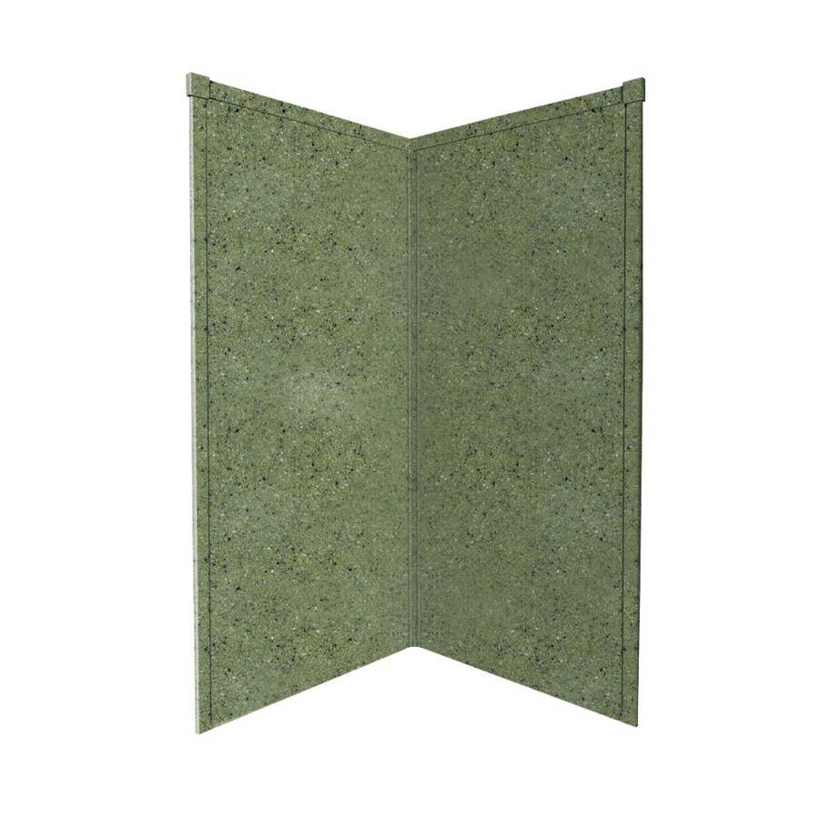 Transolid Decor Peppered Sage Shower Wall Surround Corner Wall Panel (Common: 36-in x 36-in; Actual: 72-in x 36-in x 36-in)