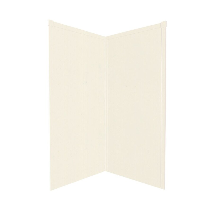 Transolid Decor Cameo/Cream Shower Wall Surround Corner Wall Panel (Common: 36-in x 36-in; Actual: 72-in x 36-in x 36-in)