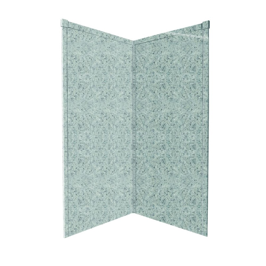 Transolid Decor Matrix Dusk Shower Wall Surround Corner Wall Kit (Common: 36-in x 36-in; Actual: 72-in x 36-in x 36-in)