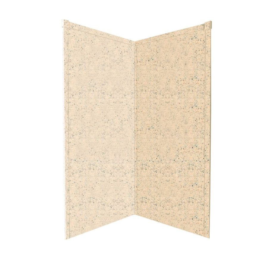 Transolid Decor Matrix Khaki/Sunset Sand Shower Wall Surround Corner Wall Panel (Common: 36-in x 36-in; Actual: 72-in x 36-in x 36-in)