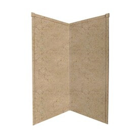Transolid Decor Sand Castle Shower Wall Surround Corner Panel Common 36 In