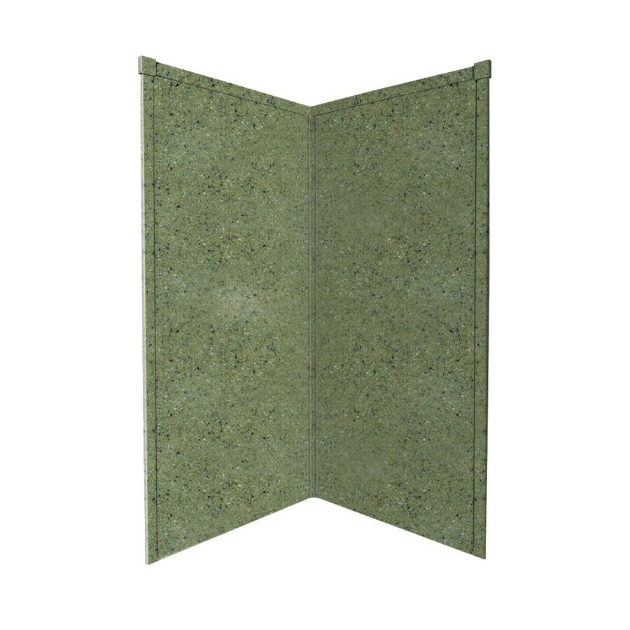 Transolid Decor Peppered Sage Shower Wall Surround Corner Wall Panel (Common: 38-in x 38-in; Actual: 72-in x 38-in x 38-in)