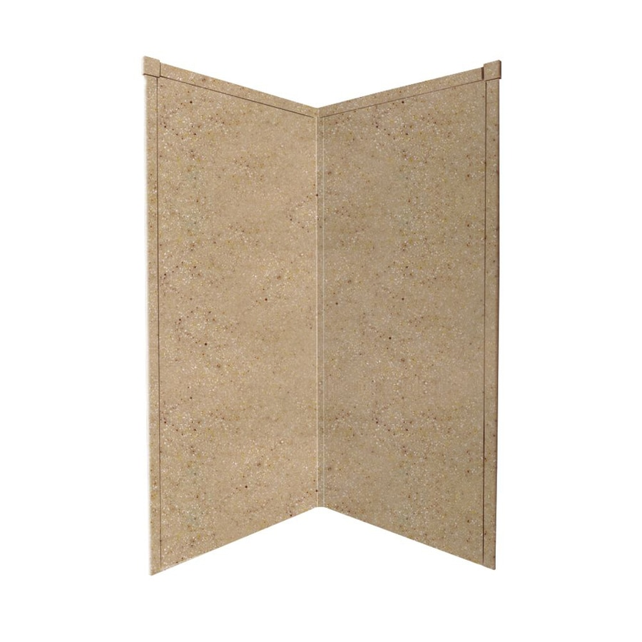 Transolid Decor Sand Castle Shower Wall Surround Corner Wall Panel (Common: 38-in x 38-in; Actual: 72-in x 38-in x 38-in)