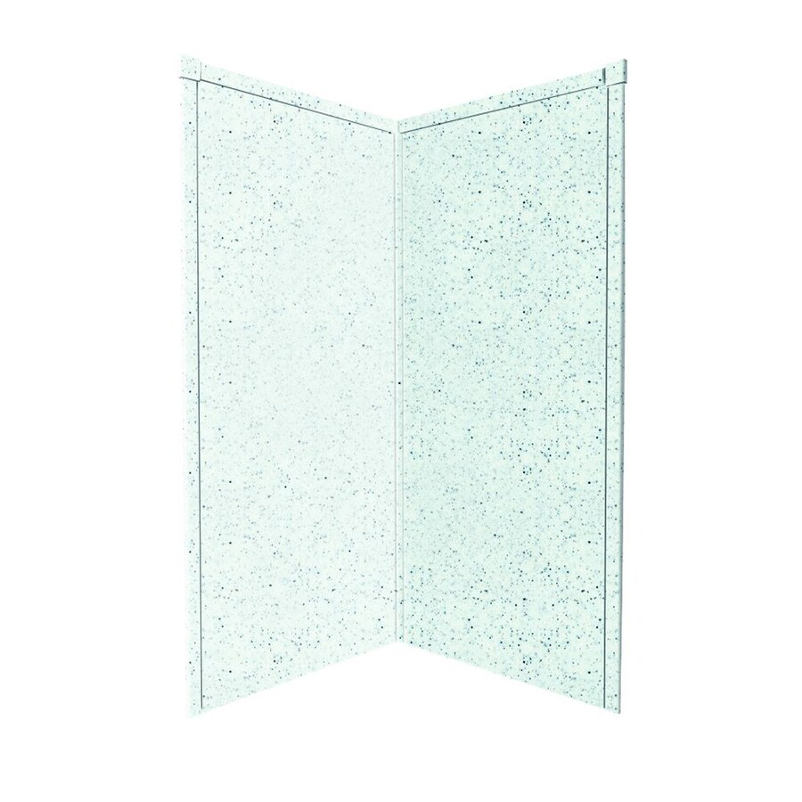 Transolid Decor Matrix White/Speckled White Shower Wall Surround Corner Wall Panel (Common: 38-in x 38-in; Actual: 72-in x 38-in x 38-in)