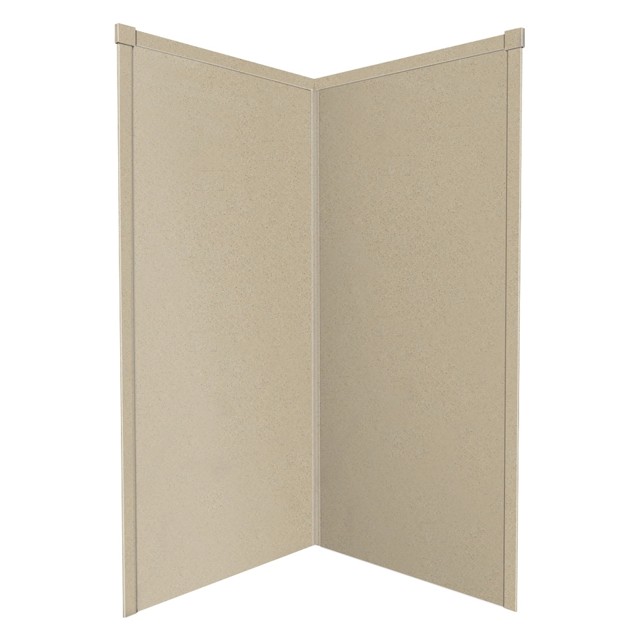 Transolid Decor Matrix Sand Shower Wall Surround Corner Wall Kit (Common: 38-in x 38-in; Actual: 72-in x 38-in x 38-in)