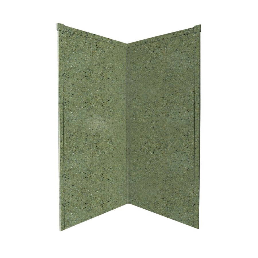 Transolid Decor Peppered Sage Shower Wall Surround Corner Wall Panel (Common: 38-in x 38-in; Actual: 96-in x 38-in x 38-in)