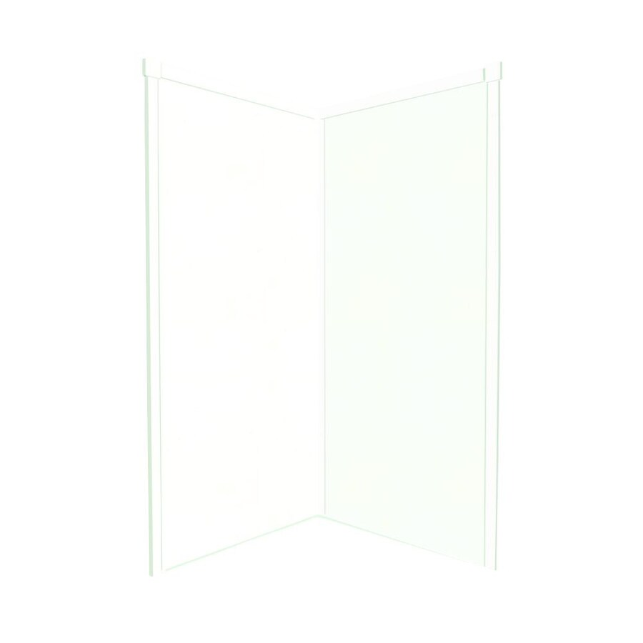 Transolid Decor White/Snow Shower Wall Surround Corner Wall Panel (Common: 38-in x 38-in; Actual: 96-in x 38-in x 38-in)