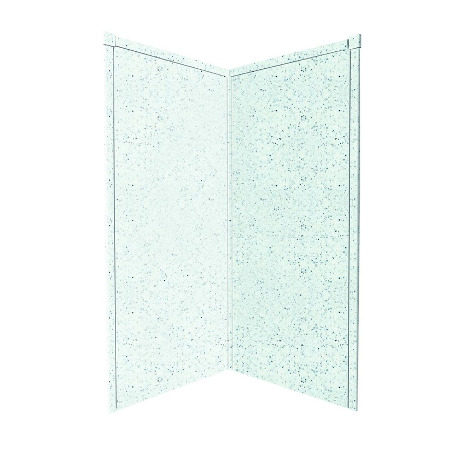 Transolid Decor Matrix White/Speckled White Shower Wall Surround Corner Wall Panel (Common: 38-in x 38-in; Actual: 96-in x 38-in x 38-in)
